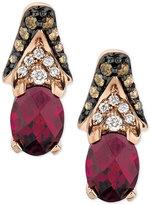 LeVian Le Vian® Raspberry Rhodolite® Garnet (2-5/8 ct. t.w.) and Diamond (3/8 ct. t.w.) Drop Earrings in 14k Rose Gold