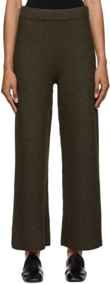 Arch The Brown Cashmere and Wool Lounge Pants