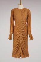 Nina Ricci Pleated silk dress