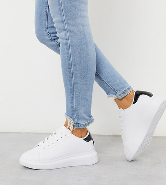 Truffle Collection wide fit sneakers with black trim