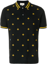 Gucci embroidered bee polo shirt