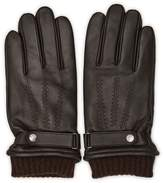 Reiss Henley Touch Leather Touchscreen Gloves