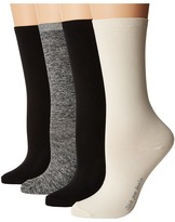 Hue Body Socks 4-Pack Women's Crew Cut Socks Shoes