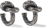 Bottega Veneta Oxidized Silver-tone Earrings - Gunmetal