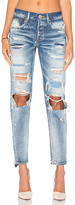 Moussy Distressed Straight