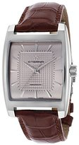Eterna 7711.41.31.1178 Men's Madison Mechanical Brown Genuine Alligator Silver-Tone Dial Ss Watch