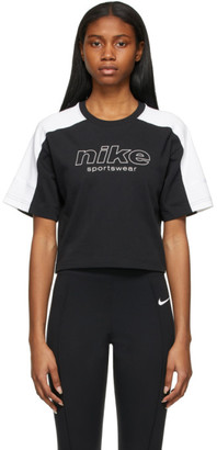 Nike Black and White Sportswear Archived Remix T-Shirt