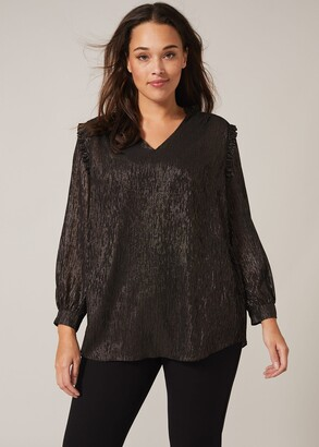Phase Eight Tallie Shimmer Stripe Top