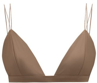 JADE SWIM Micro Perfect Rouleau Strap Bikini Top - Womens - Nude