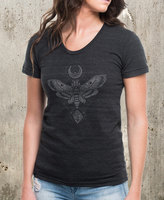 Etsy Moth Moon Rock Women's T-Shirt - American Apparel Women's TriBlend T-Shirt