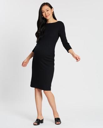 Gap Maternity Modern Boat-Neck Dress