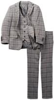 Isaac Mizrahi Three Piece Wool Blend Plaid Suit (Toddler, Little Boys, & Big Boys)