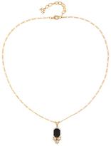 Susan Caplan Vintage 1980s Nina Ricci 22ct Gold Plated Swarovski Crystal Pendant Necklace, Gold/Black