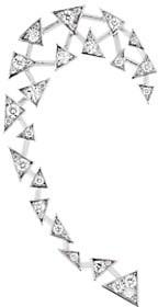 Akillis Capture Me 18K White Gold & Diamond Single Right Ear Cuff