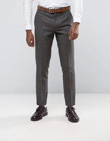 Original Penguin Formal Brown Herringbone Suit Trousers