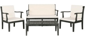 Safavieh Fresno 4Pc Outdoor Seating Set