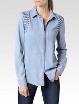 Paige Pari Shirt - Avenida Embroidered