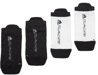 adidas by Stella McCartney Set Of Two Logo-jacquard Jersey Hidden Socks - White Multi