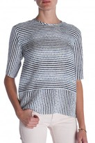 10 CROSBY DEREK LAM Short Sleeved Printed Top
