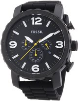 Fossil Men's Nate JR1425 Silicone Analog Quartz Watch