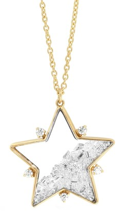 Moritz Glik Diamond Shaker Star Pendant Necklace