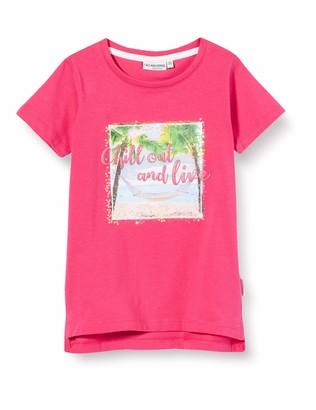 Salt&Pepper Salt and Pepper Girls' Fotoprint Strand mit Pailletten und Glitzerdruck T-Shirt