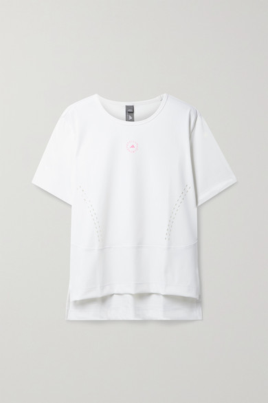 adidas by Stella McCartney Truestrength Perforated Recycled Stretch T-shirt - White
