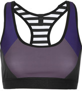 Monreal London Reversible Printed Stretch-jersey Sports Bra - Black