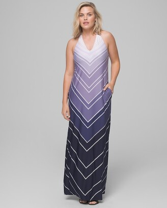 Soma Intimates Halter Tie Maxi Dress With Built-In Bra