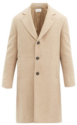 Brunello Cucinelli Single-breasted Wool Coat - Beige
