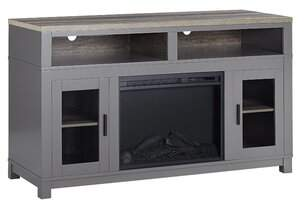 Andover Mills Zahara TV Stand for TVs up to 60 inches with Electric Fireplace Included Color: White
