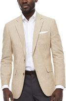 STAFFORD Stafford Linen Cotton Sand Sport Coat-Slim