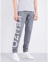 Kenzo Striped-logo Relaxed-fit Cotton-jersey Jogging Bottoms