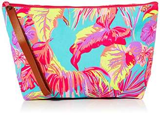 The Holiday Shop London Womens Canvas Clutch Bag Tropical Clutch