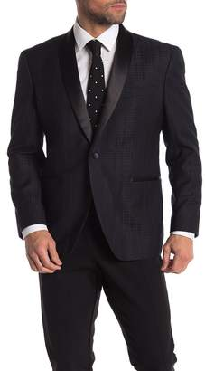 Kenneth Cole Reaction One Button Shawl Lapel Performance Stretch Slim Fit Evening Jacket