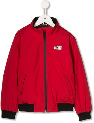 MC2 Saint Barth Kids logo patch bomber jacket