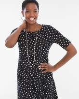 Chico's Chicos Polka Dot Tie-Front Tee