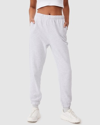 Cotton On Women's Grey Sweatpants - High Waist Track Pants - Size XS at The Iconic