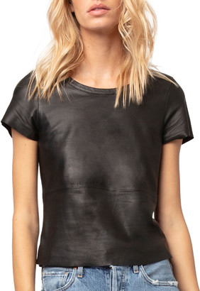 As By Df New Guard Cropped Leather Tee