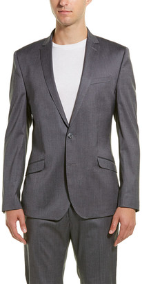 Kenneth Cole Reaction Skinny Fit Suit With Flat Front Pant