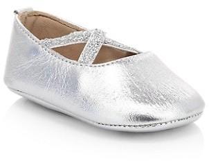 Elephantito Baby Girl's Metallic Leather Ballet Flats