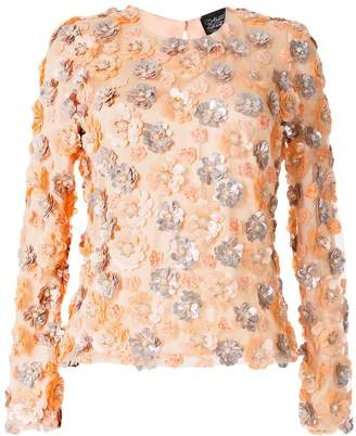 Alison Brett flower-embellished round-neck top