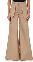 Off-White Women's Cotton-Blend Wide-Leg Pants-TAN