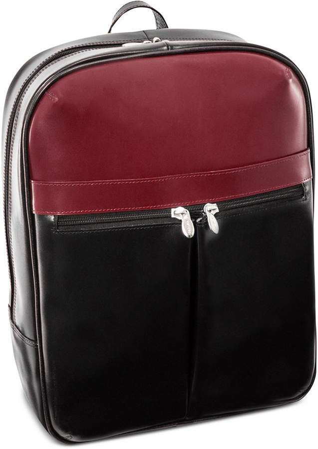 "McKlein Avalon 15.4"" Leather Laptop Backpack"