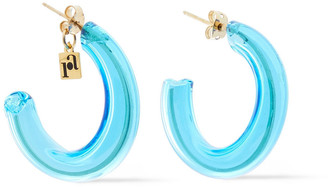 Rosantica Murano Gold-tone Glass Hoop Earrings