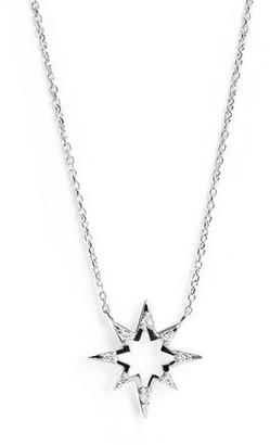 Anzie Aztec Hollow Starburst Necklace Silver