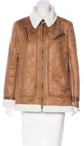 Rachel Roy Vegan Leather Zip-Front Jacket