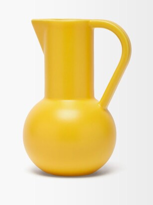 Raawii - Strm Large Ceramic Jug - Yellow