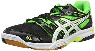 Asics Men's Gel-Rocket 7 Volleyball Shoes, Multicolor (Black/Green Gecko/White)