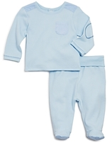Absorba Boys' Houndstooth-Accent Tee & Footed Pants Set - Baby